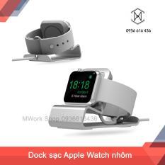 Dock sạc Apple Watch nhôm nguyên khối – Đế sạc Apple Watch ( Màu bạc silver )