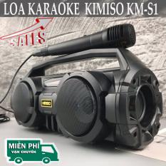 Loa Hát Karaoke Tặng kèm mic, Loa Bluetooth Kimiso KM-S1, KM-S2, KM-S3 full hộp, Bass Cực Mạnh, Mic hát karaoke cực hay, Loa bluetooth xách tay Đèn Led Sống Động.