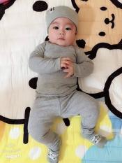 [GIÁ SỐC] Combo 3 Bộ cotton Bozip dài tay cho bé (8-18kg)
