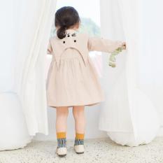 [cao cấp] Váy thêu mèo xinh xắn hàng chuẩn xuất xịn cho bé cao từ 80cm-120cm