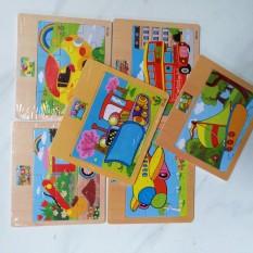 Combo 10 tranh puzzle 12 mảnh giúp bé rèn luyện tư duy