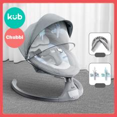 [HCM]Nôi Rung Điện Tự Động Cho Bé – KUB – Model Mới 2021 Màn Hình Cảm Ứng LED Phát Nhạc Qua Điện Thoại Bằng Bluetooth Điều Khiển Từ Xa