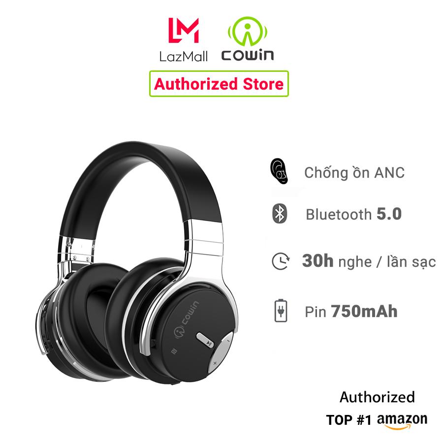 Tai nghe chụp tai không dây Bluetooth COWIN E7S, chống ồn ANC