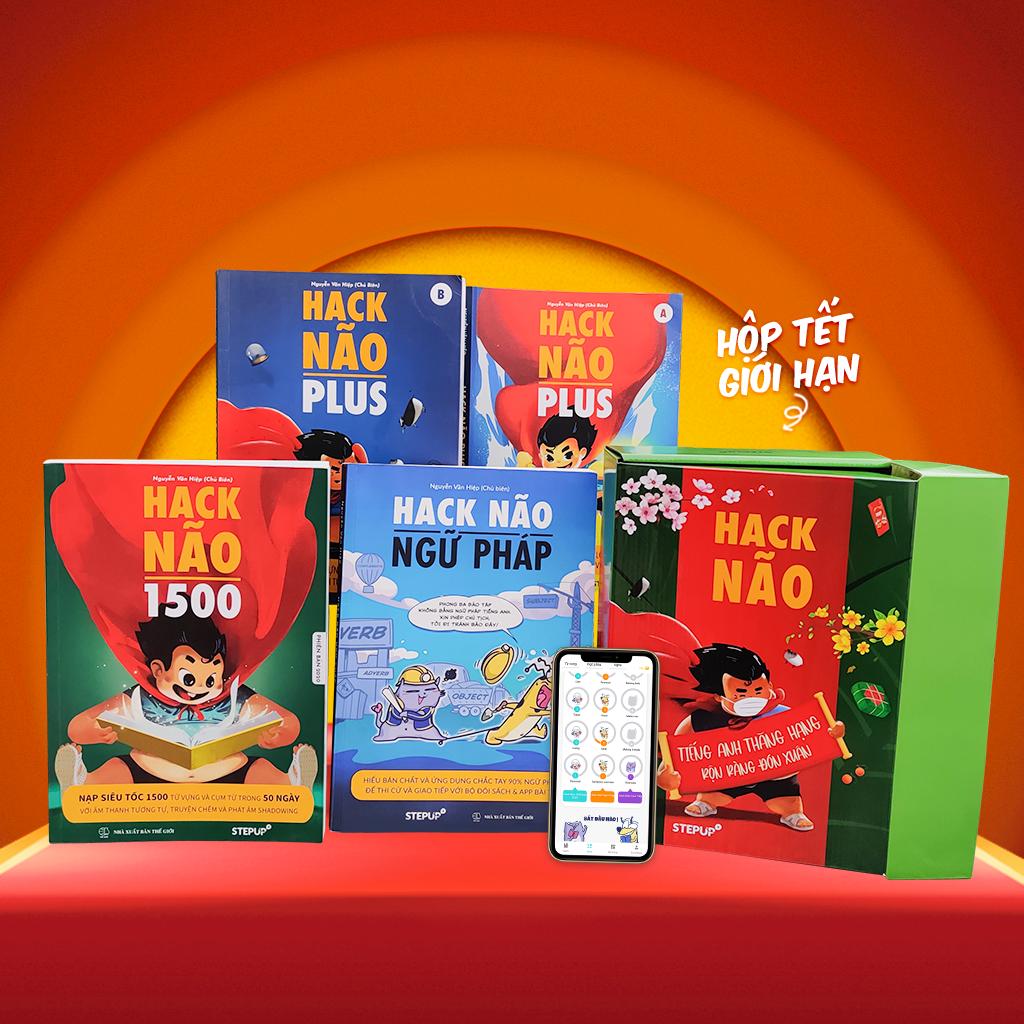 Combo 4 sách Hack Não 1500 + Hack Não Plus A, B + Hack Não Ngữ Pháp – Tặng App Hack Não Pro học phát âm và luyện tập ngữ pháp miễn phí (Step Up English)