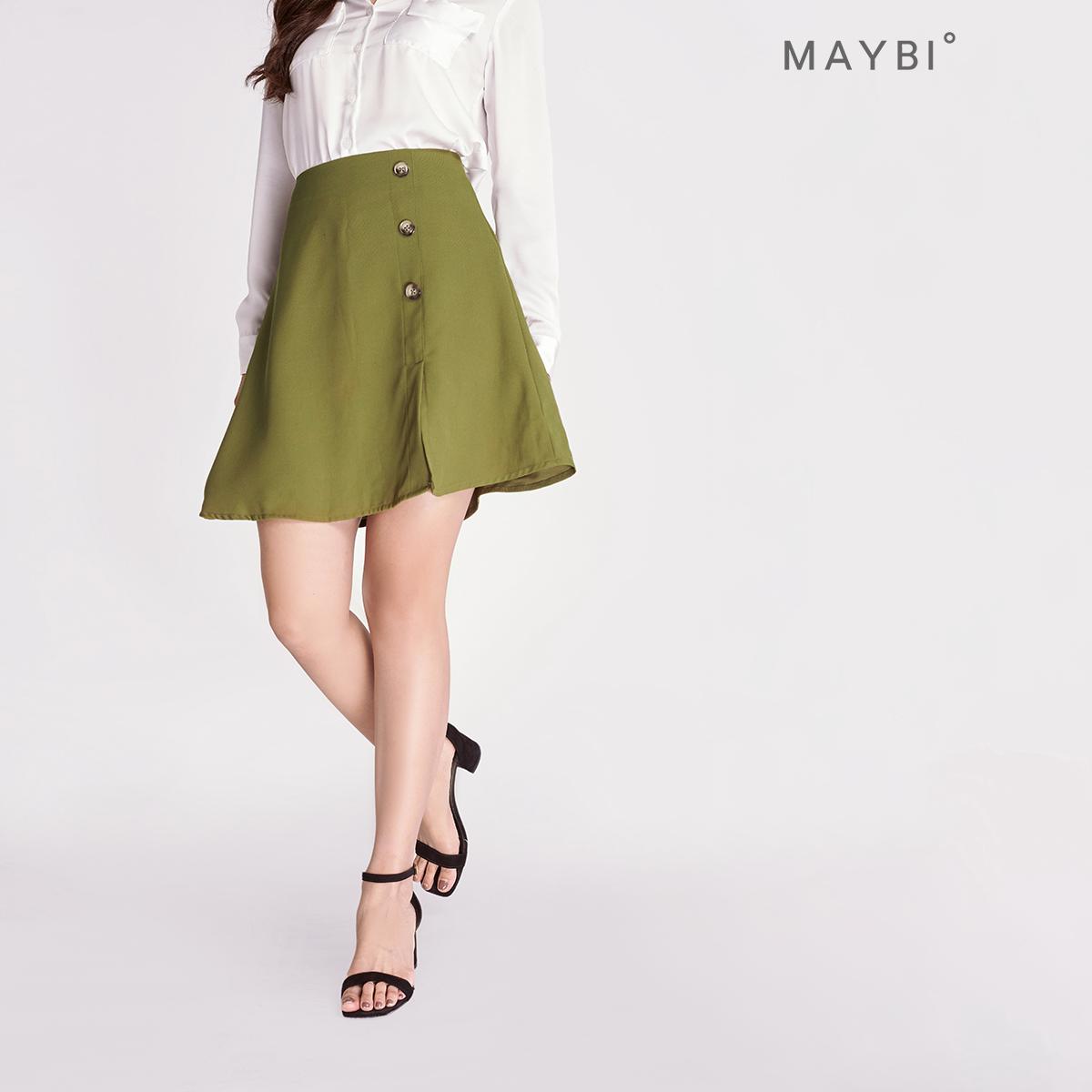 MAYBI – Chân váy lụa chéo Skater A Skirt