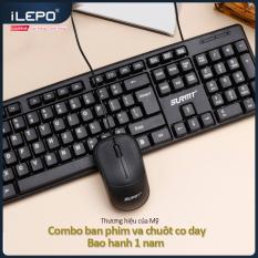 Bộ bàn phím chuột có dây, bộ bàn phím và chuột có dây, bàn phím máy tính độ phân giải 1200DPI, dùng được cho mọi hệ điều hành, dùng cho làm việc tại nhà, văn phòng bảo hanh 1 năm 8236
