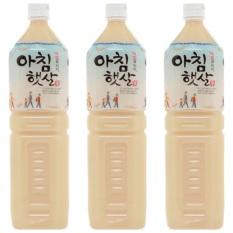 [combo 3 chai]Nước gạo rang Hàn Quốc Woongjin chai 1,5L