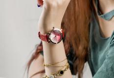 Đồng hồ nữ dây da tuyệt đẹp Guou 8128b