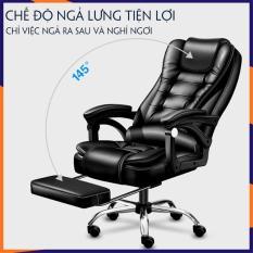 Ghế Văn Phòng, Ghế xoay da cao cấp SaBo [mẫu mới 2020] có massage lưng, có ngả lưng, có gác chân