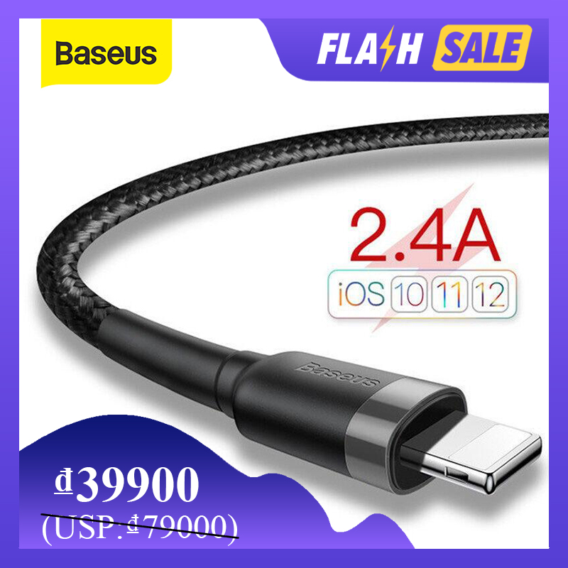 Baseus USB To Lightning Cable for iPhone 2.4A Quick Charging Cable USB Lightning Fast Charging for iP Charger Wire