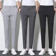 Combo 3 quần âu nam loại đẹp quần tây nam co dãn không nhăn không xù thiết kế chi tiết ,tỉ mỉ