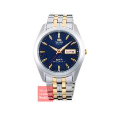 Đồng hồ nam dây thép Orient 3 sao RA-AB0029L19B Automatic Demi vàng Gold size 39mm chống nước 50m