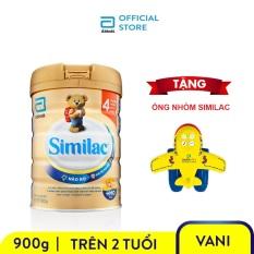 Lon sữa bột Similac IQ 4 900g Tặng Ống nhòm