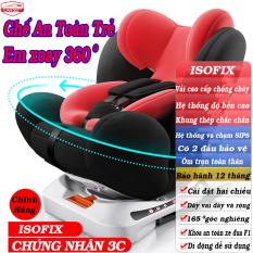 Ghế ngồi an toàn trên ô tô cho bé CAR365 xoay 360 độ có thể điều chỉnh góc độ an toàn tiện lợi, chứng chỉ ISOFIX, dây đai chắc chắn, chất liệu thoáng khí, khung thép siêu bền, đai an toàn, BẢO HÀNH 12 THÁNG – CAR46