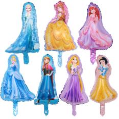 Combo 7 bóng kiếng công chúa mini trang trí quà tặng đồ chơi cho bé