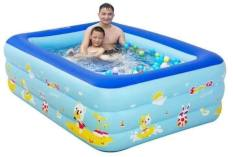 Bể bơi phao trong nhà-gia đình, Hồ bơi phao cho bé cho trẻ em tập bơi, loại dày cao cấp cỡ lớn 210cm Tập bơi be boi cho be khuyen mai- Giá hấp dẫn khi mua online