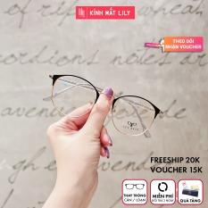 Gọng kính kim loại nữ mắt tròn Lilyeyewear 1030 nhẹ nhàng thanh mảnh, giúp người đeo thoải mái, phù hợp với nhiều khuôn mặt , gọng kính có nhiều màu, một size kèm quà