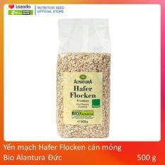Yến mạch Hafer Flocken cán mỏng Bio Alnatura Đức 500 g