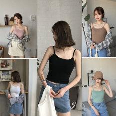 Áo hai dây Croptop chất thun gân phong cách, gợi cảm, Trang Nữ ( chất vải đẹp mềm – Kèm video)