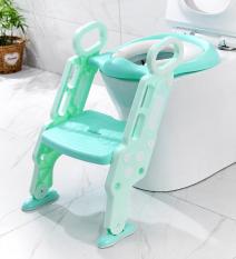 Dụng cụ thu nhỏ bồn cầu cho bé – Bệ lót bồn cầu cho bé thiết kế hình cầu thang – Bệ lót thu nhỏ bồn cầu – Ghế bệ lót ngồi vệ sinh cho bé