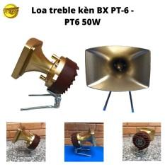 Bộ 2 Loa Treble Kèn Cao Cấp BX PT6-họng đúc thiết kế chắc chắn phù hợp với mọi không gian màu vàng đồng
