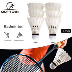 Outtobe 12Pcs or 6 PCS Badminton Shuttlecocks, Goose Feather Shuttlecocks Stable & Durable Sports Training Badminton Balls for Indoor Outdoor Game