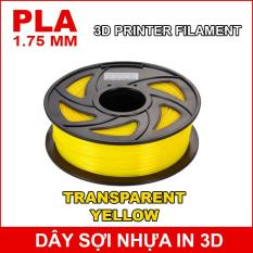 Dây sợi nhựa PLA in 3D 1.75mm 1Kg Transparent Yellow