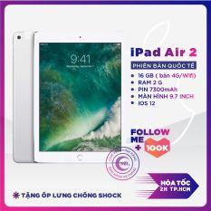 ( Free Vocher 500k 03-08/03 )Máy tính bảng Apple IPAD AIR 2 Bản (4G+WIFI) (64GB- 16GB ) Máy Zin Ram 2G Chip A8X mạnh mẽ Màn Hình 9.7 inch full HD Cảm biến vân tay MR CAU