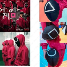 【Giảm giá】 Squid Game Front Man M-ask Squid Game Square Circle Triangle 001 BOSS M-ask Lee Jung Jae's same M-ASK Squid Gamemask