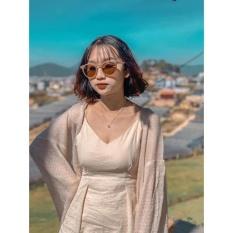 Áo Cadigan len mỏng phong cách Hàn Quốc