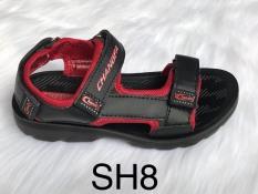 Giày sandal trẻ em đế đúc quai vải cao cấp SH8 đi học- GE002