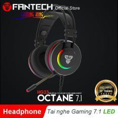 Tai nghe Chụp tai Gaming OCTANE 7.1 hỗ trợ LED RGB kèm micro phone có phần mềm tùy chỉnh âm thanh cho Game thủ FANTECH HG23 – Hãng phân phối chính thức