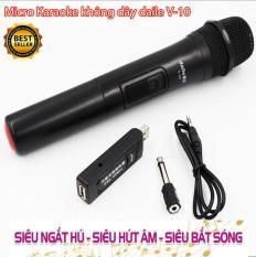 Micro Karaoke không dây đa năng cao cấp Shure Daile V10 – dành cho loa kéo, loa bluetooth, amply hát karaoke
