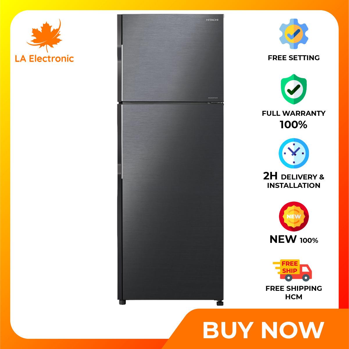 Trả Góp 0% – Tủ Lạnh Hitachi Inverter 260 lít R-H310PGV7 BBK – Miễn phí vận chuyển HCM