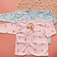 Áo dài tay cotton cho bé sơ sinh khuy lệch vải cotton cao cấp mềm mịn và thoáng mát có nhiều màu sắc khác nhau phù hợp cho cả bé trai và bé gái