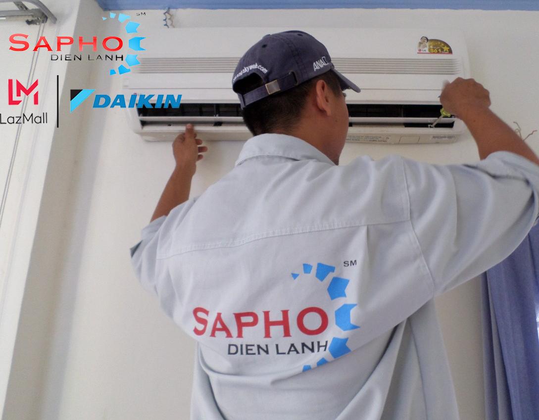 Bảo Trì Máy Lạnh Tại Nhà Gói CAC Basic 6 Bước Tất Cả Thương Hiệu Điều Hoà Treo Tường 1HP – 2HP Service 2021 Daikin – Điện Máy Sapho