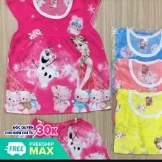 bộ quần áo bé gái ,bộ gái CÁNH TIÊN vải tole ,lanh ,sản xuất tại xưởng ,cam kết giao nhiều màu ,nhiều mẫu không trùng