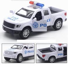 Quà tặng đồ chơi Xe ô tô cảnh sát mini mô hình bằng sắt chạy cót xe có âm thanh và đèn mở cửa xe