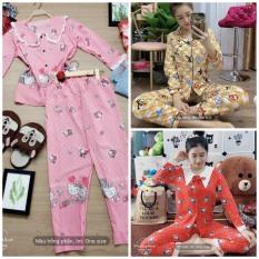 PIJAMA TAY DÀI LỤA HÀN,Đồ Bộ Pijama Tay Dài Vải LỤA HÀN Dày Siêu Mát Mịn, CAM KẾT ĐÚNG MẪU, size dưới 60kg
