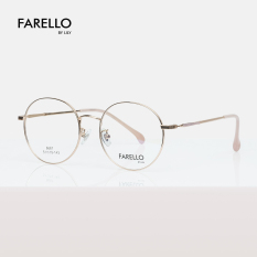 Gọng kính kim loại nam nữ FARELLO mắt tròn, nhẹ nhàng thanh mảnh, phù hợp với nhiều khuôn mặt, màu sắc thời trang, một size – ACACIA 8667