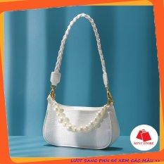 Túi kẹp nách đẹp 🔸FREESHIP🔸 Túi đeo chéo nữ đi chơi quai xoắn dây ngọc PK 232