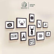 Bộ 11 khung ảnh DECOFU, khung tranh treo tường – S11