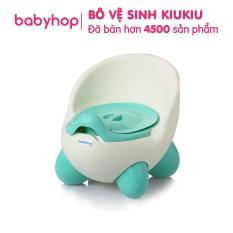 Bô vệ sinh trẻ em Kiukiu thiết kế xinh xắn, chất liệu nhựa PP cao cấp, tư thế ngồi bô thoải mái. Cho bé từ 6-7 tháng bắt đầu đi toilet độc lập