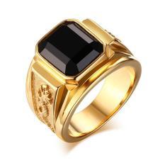 Nhẫn Nam Titan Khảm Rồng Đẳng Cấp Vĩnh Viễn Không Đen, Không Gỉ Set, Thiết Kế Sang Trọng Lịch Lãm, Độc Đáo