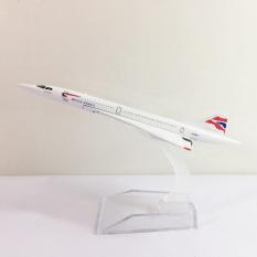 Mô hình máy bay kim loại dòng máy bay siêu thanh thương mại 16cm món quà tặng mô hình tĩnh die-cast trưng bày bàn làm việc, kệ ti-vi, giá sách