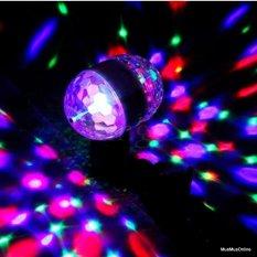 Bóng đèn led xoay 360 pha lê 7 màu vũ trường