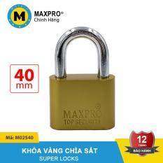 Ổ Khóa Vàng MAXPRO Càng Thường Chìa Sắt 40mm – M02S40