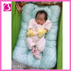 Đệm nệm lót ngủ thông minh kèm gối chống bẹt đầu cho bé