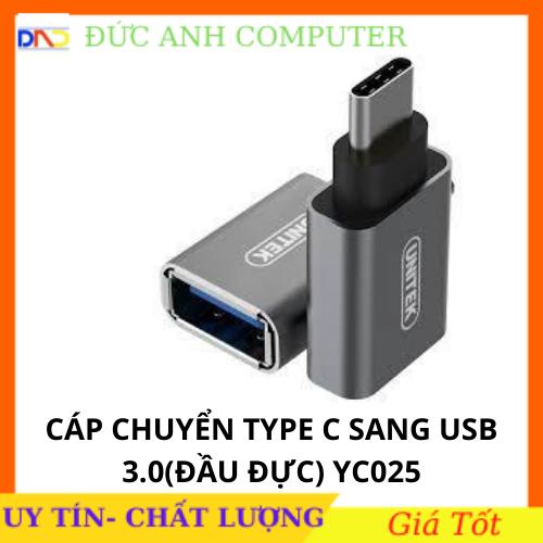 Đầu đổi USB 3.1 Type C to USB 3.0 OTG Unitek 025 – chính hãng 100% bảo hành 12 tháng, Type-c ra USB, UNITEK Y-C025, USB C RA USB