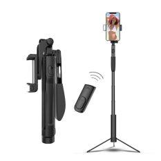 Gậy tự sướng, quay video tiktok, livestream, tripod siêu dài 160cm, kiêm tay cầm quay có gimbal tích hợp bluetooth điều khiển, cùng đèn chiếu sáng tiện lợi cho chế độ ban đêm, hàng chính hãng
